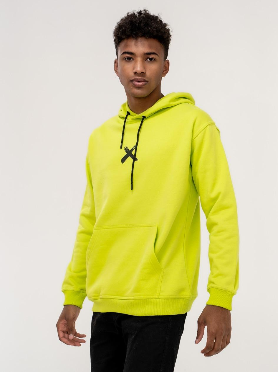 Bluza Z Kapturem Point X Front Limonkowa