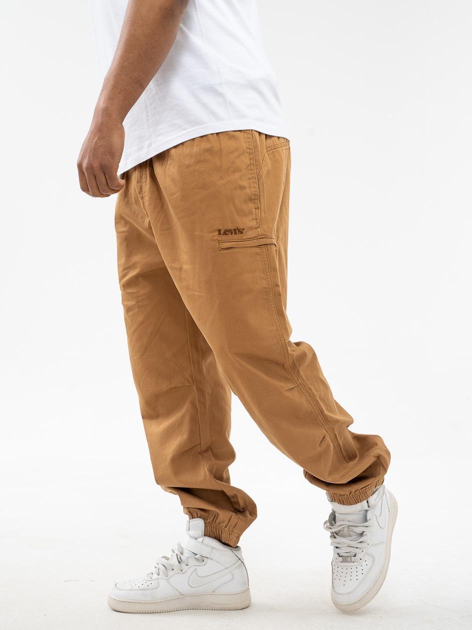 Spodnie Materiałowe Jogger Levis Marine Brązowe