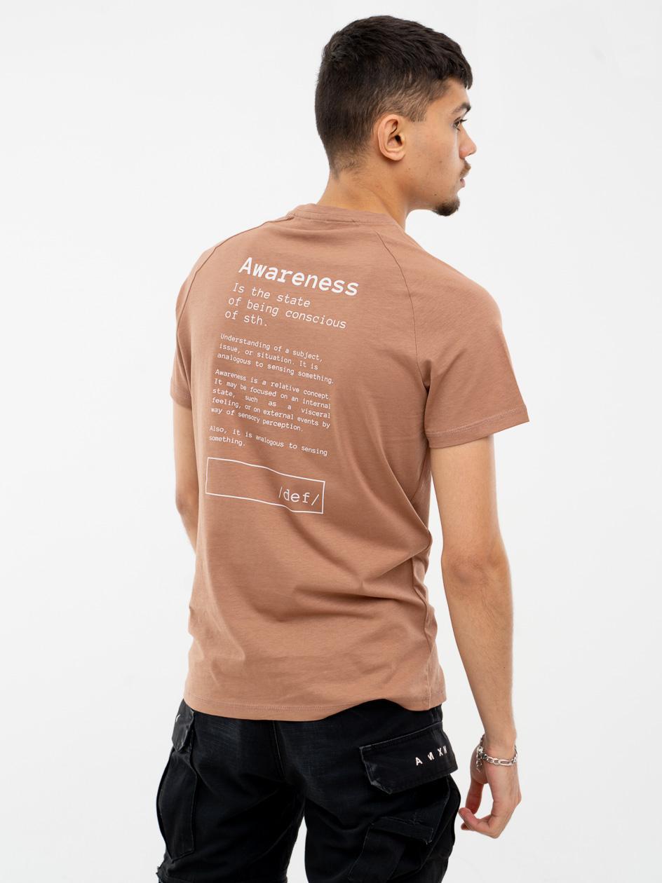 Koszulka Z Krótkim Rękawem Outhorn Awareness Brązowa