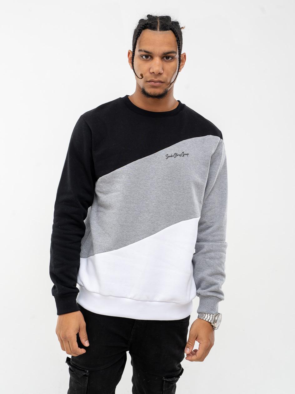 Bluza Bez Kaptura Premium SSG Colors Wave Czarna / Szara
