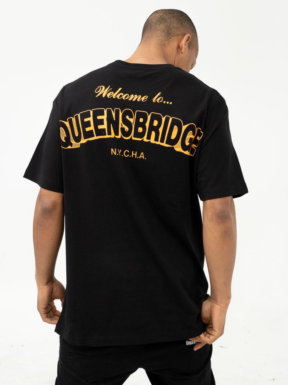 Koszulka Z Krótkim Rękawem Chi Modu Queens Czarna / Pomarańczowa