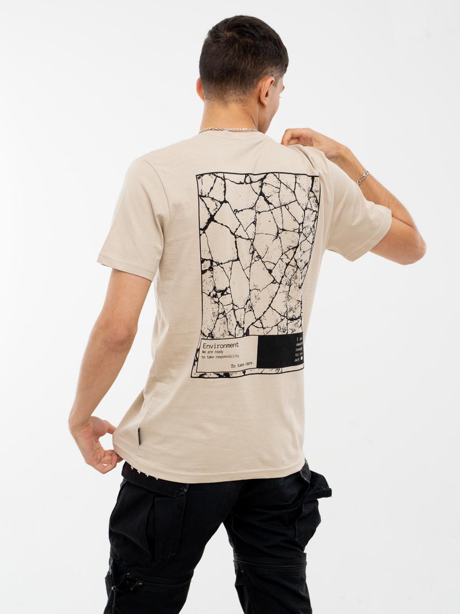 Koszulka Z Krótkim Rękawem Outhorn Environment Beżowa
