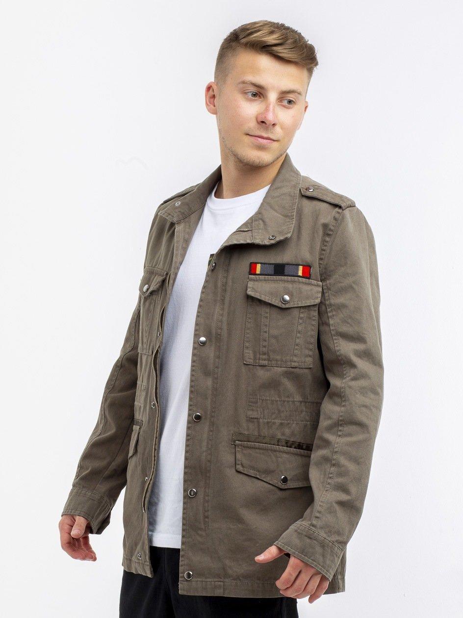 Belt Jeans Jacket Olive