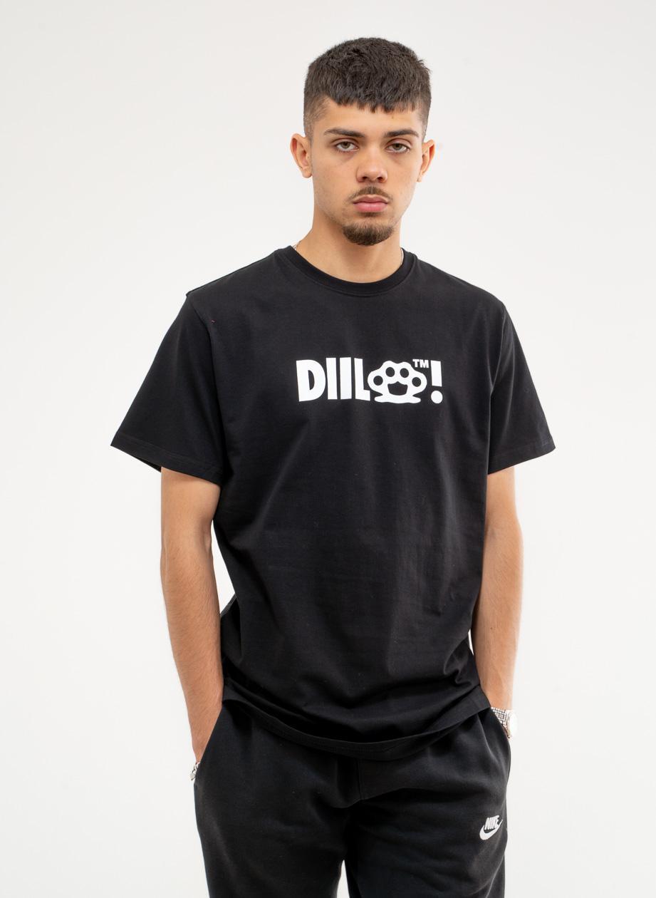 Koszulka Z Krótkim Rękawem DIIL Klasyk Kastet Czarna