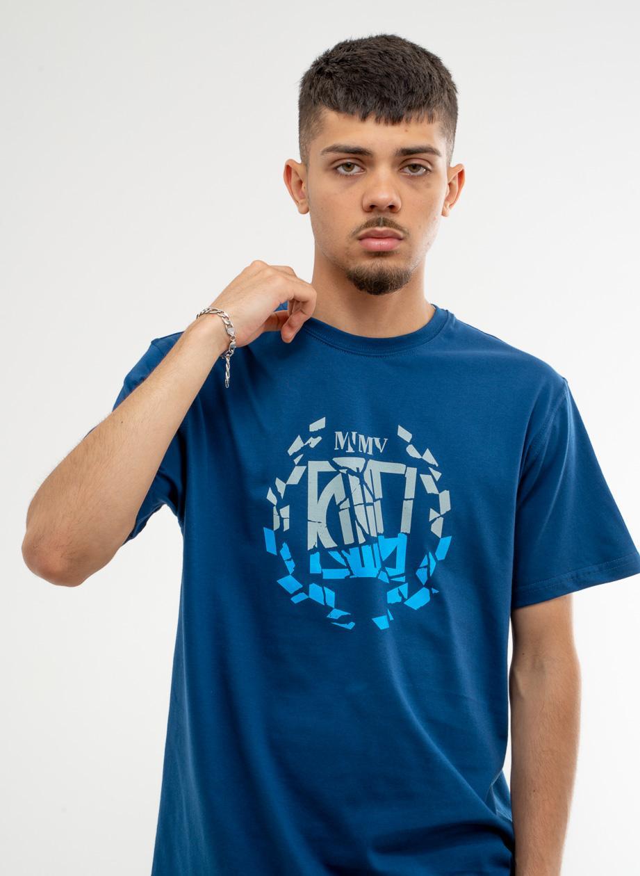 Koszulka Z Krótkim Rękawem DIIL Klasyk Double Granatowa