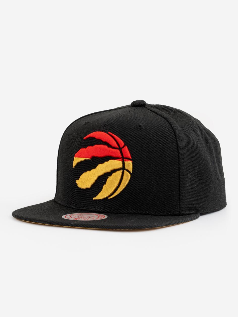 Czapka Snapback Mitchell & Ness Toronto Raptors NBA Gold Dip Down Czarna