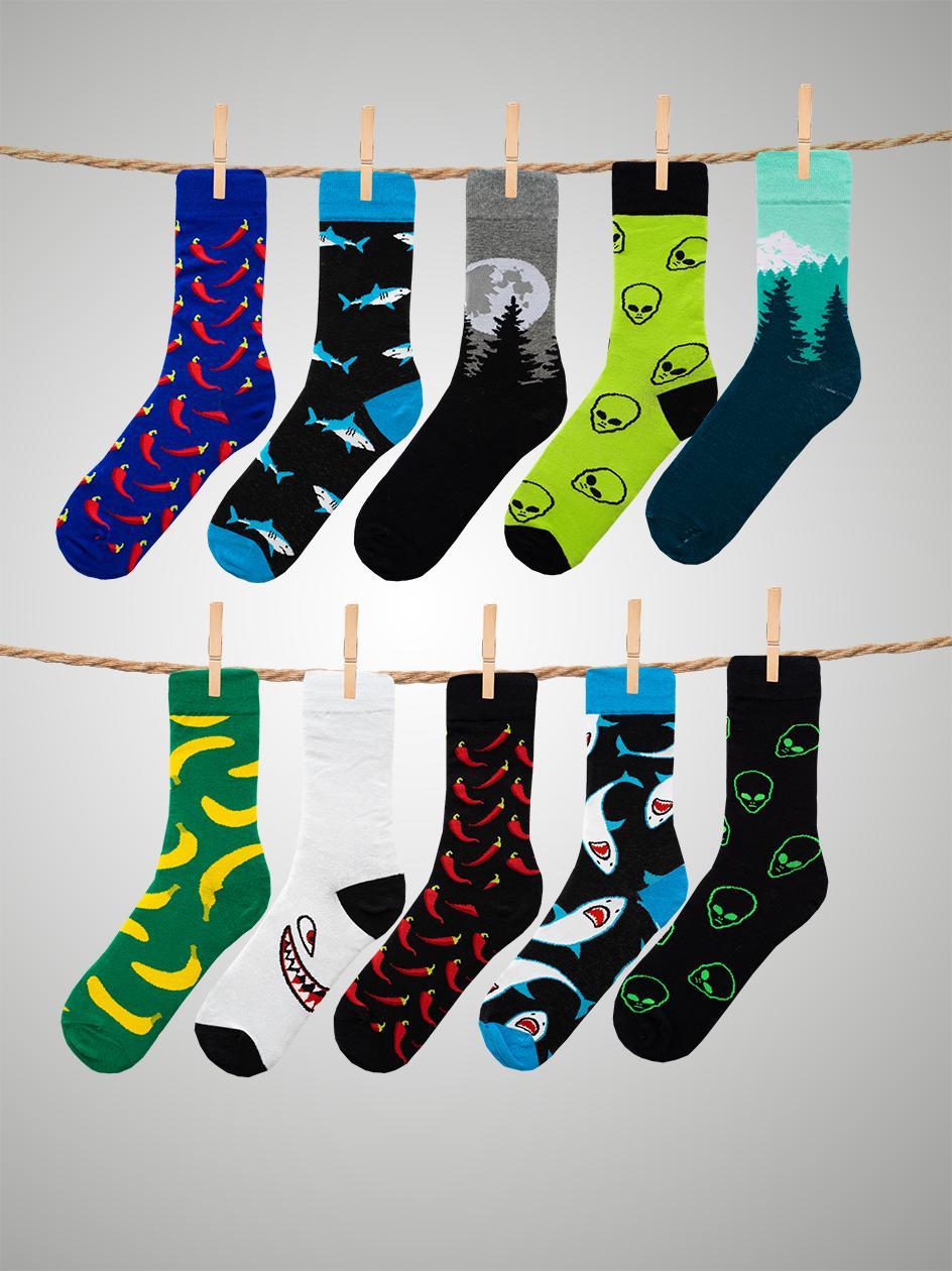 Zestaw 10 Par Skarpet MyStars x Blind Box Socks Set Mix 4 Wielokolorowe