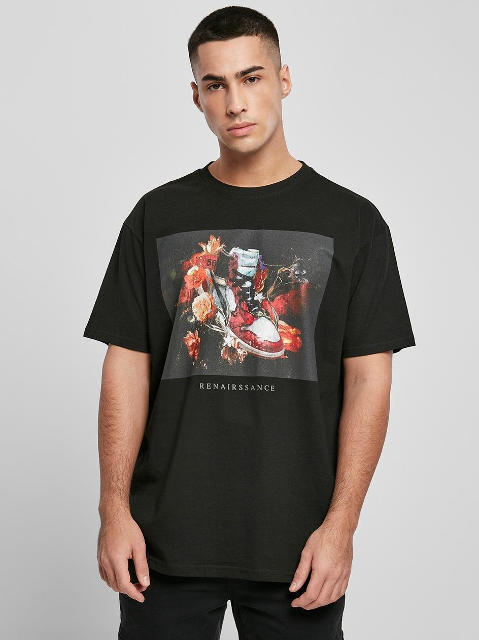 T-Shirt Oversize Mister Tee Renairssance Painting Czarny