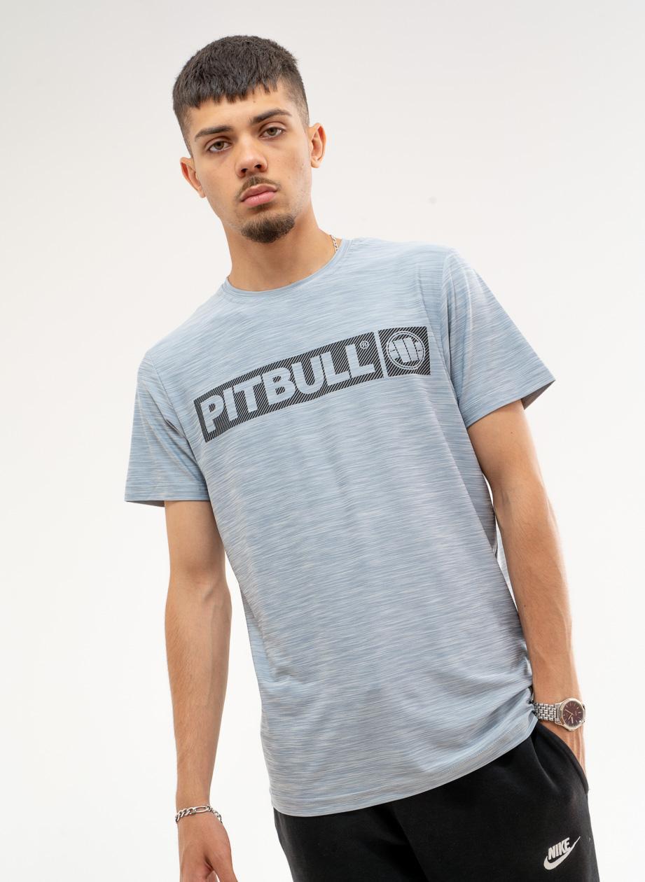 Sportowa Koszulka Z Krótkim Rękawem Pitbull West Hilltop Szara Melanżowa