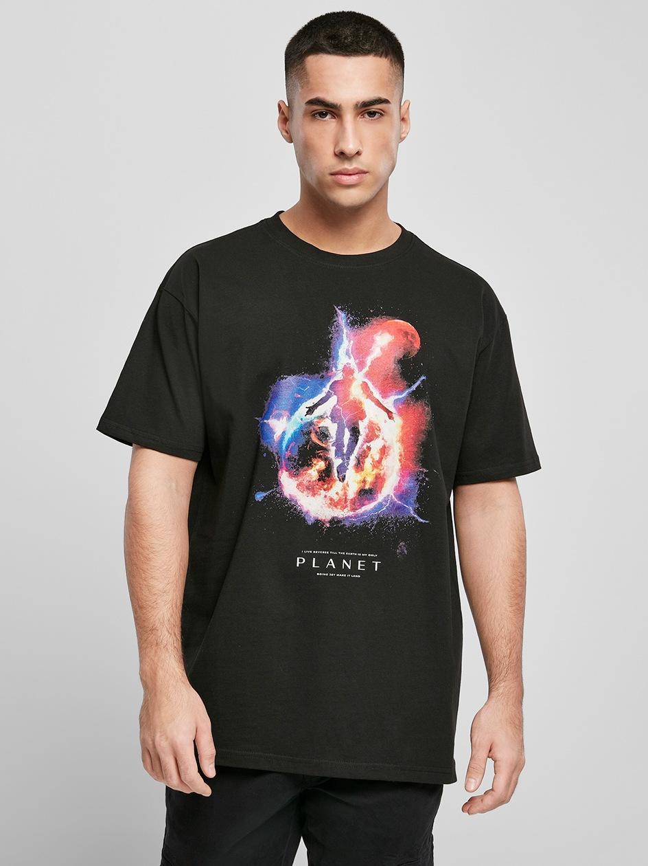 T-Shirt Oversize Mister Tee Electric Planet Czarny