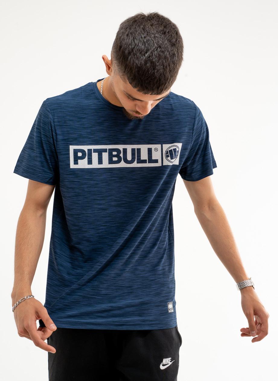 Sportowa Koszulka Z Krótkim Rękawem Pitbull West Hilltop Granatowa Melanżowa