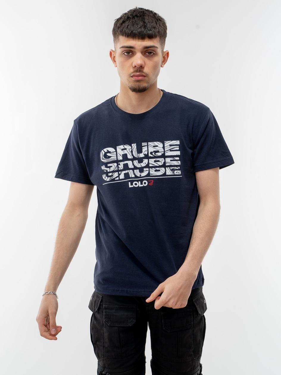 Koszulka Z Krótkim Rękawem Grube Lolo Wavy Triple G Granatowa