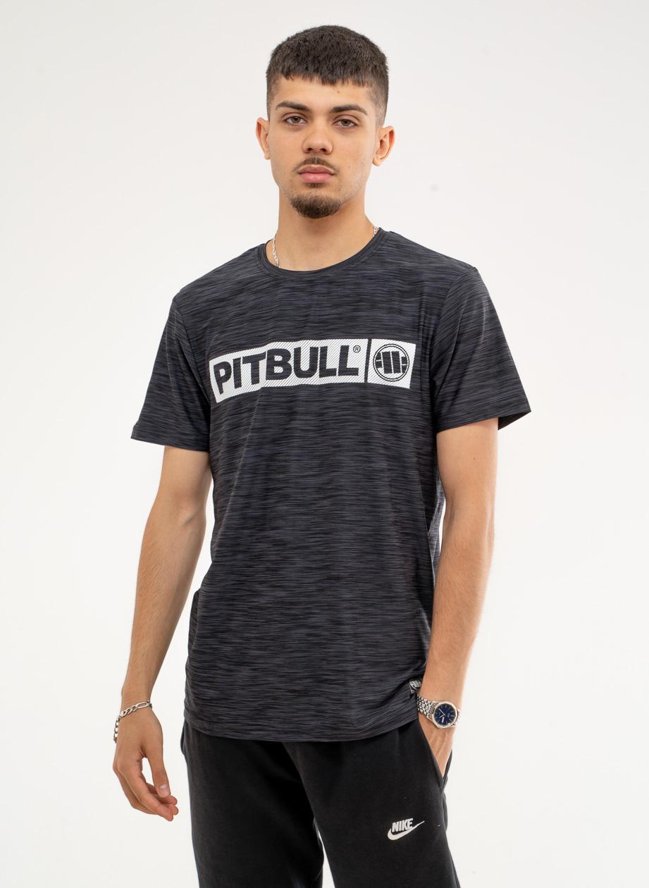 Sportowa Koszulka Z Krótkim Rękawem Pitbull West Hilltop Czarna Melanżowa