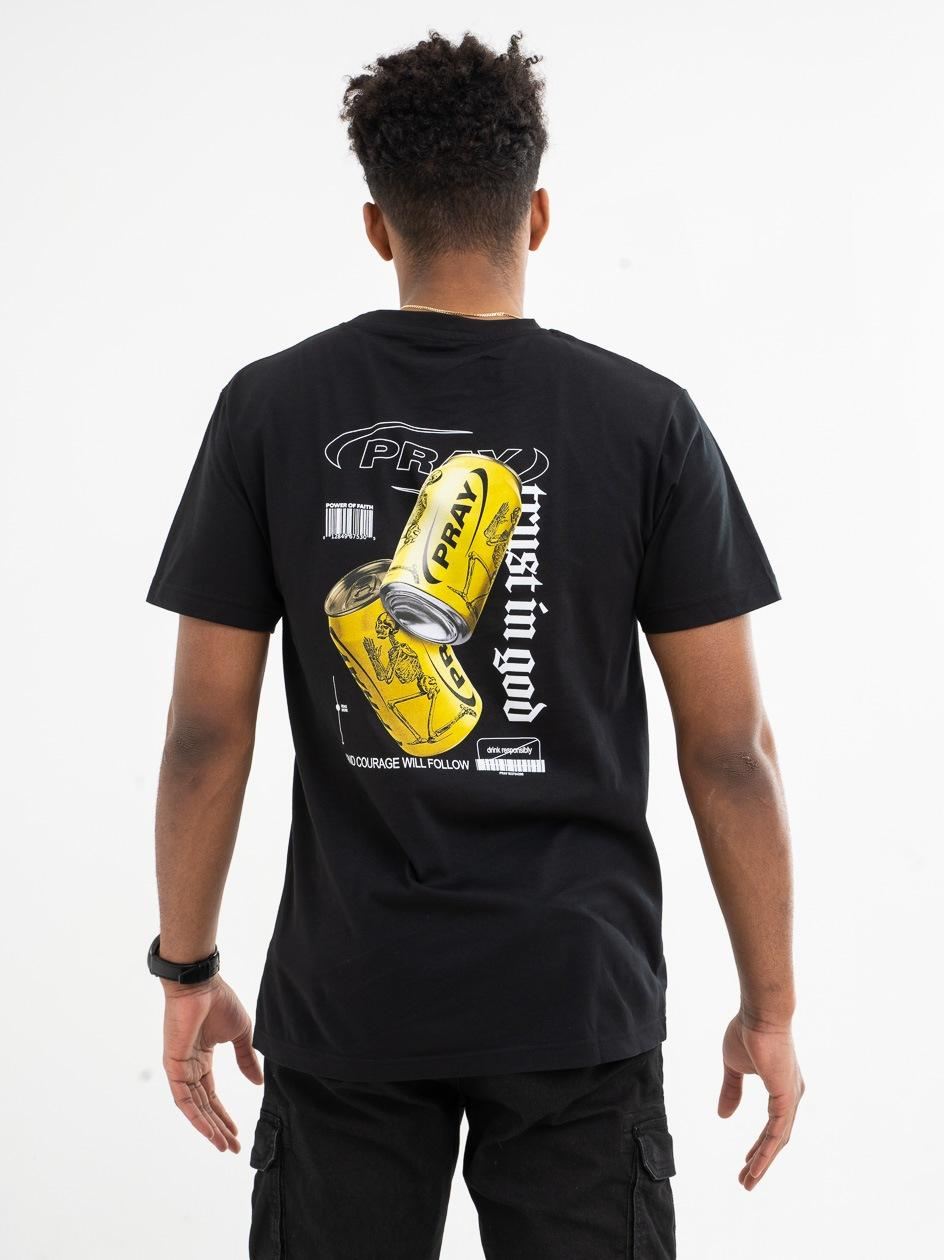 Koszulka Z Krótkim Rękawem Mister Tee Pray Cans Czarna