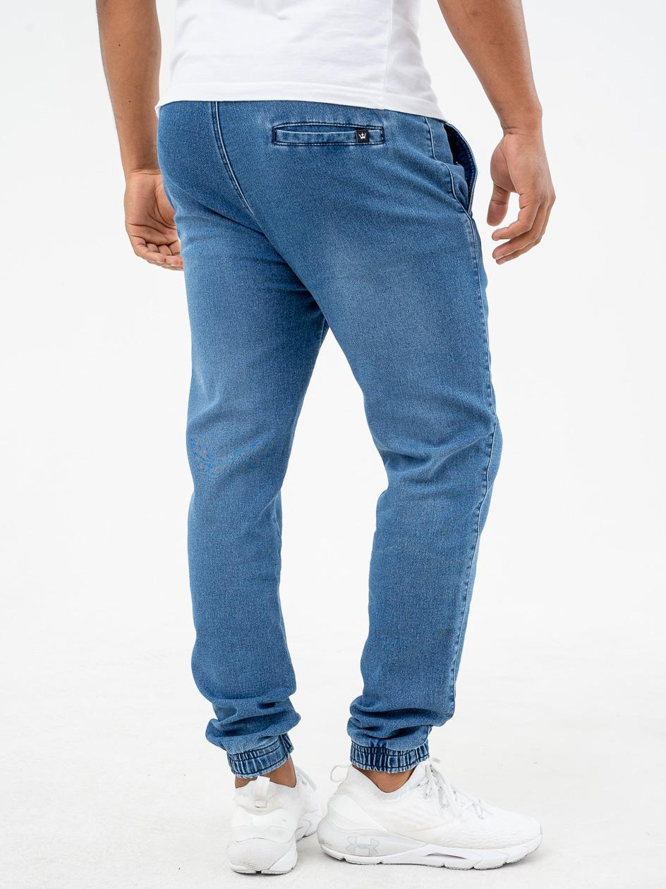 Spodnie Jeansowe Jogger Jigga Wear Classic Chino Niebieskie