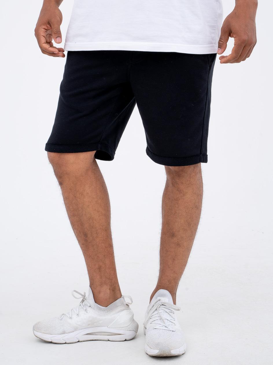 Krótkie Spodenki Dresowe Jigga Wear Stripe Czarne