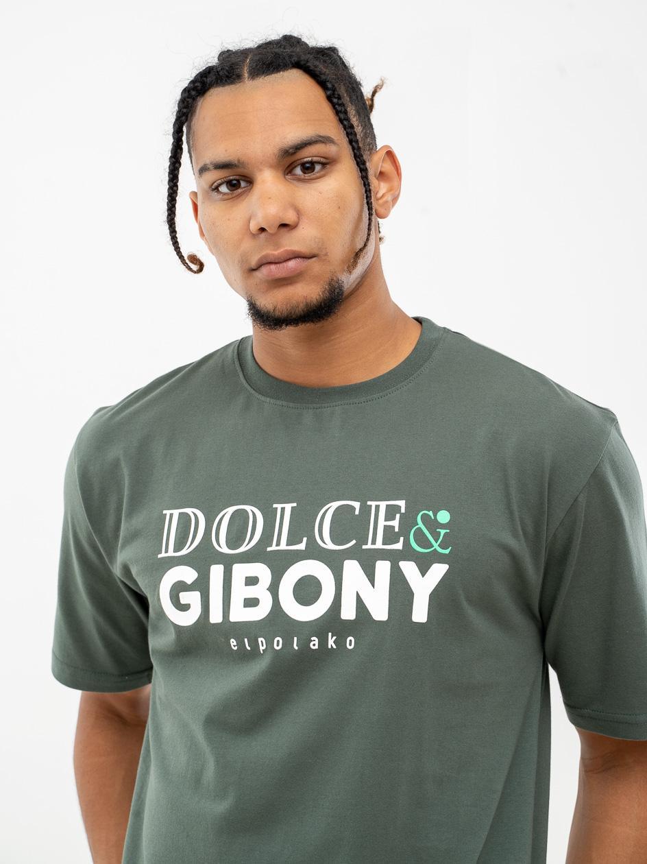 Koszulka Z Krótkim Rękawem El Polako Dolce & Gibony Khaki
