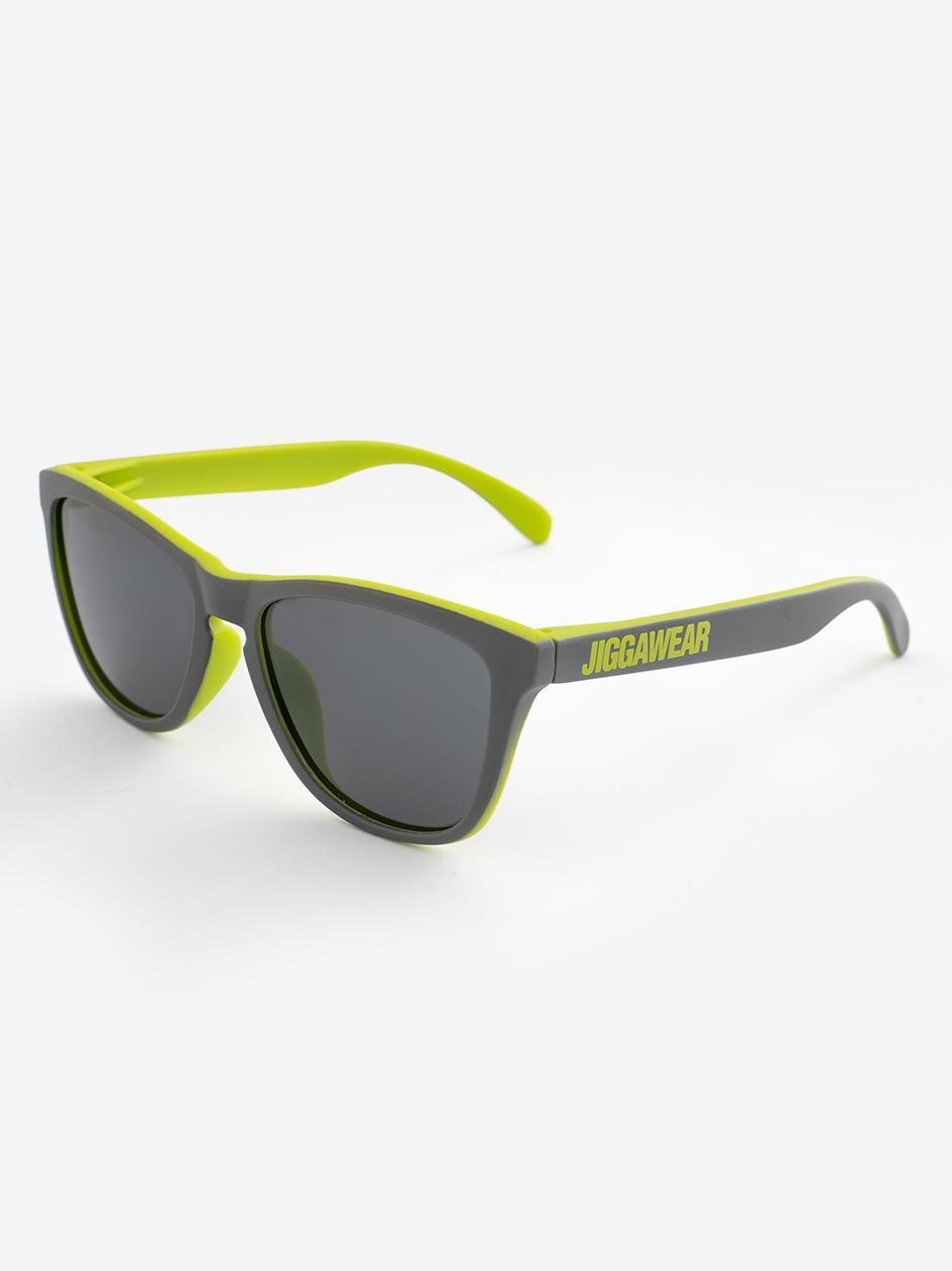 Okulary Przeciwsłoneczne Jigga Wear Name Wayfarer Szare / Zielone Matowe
