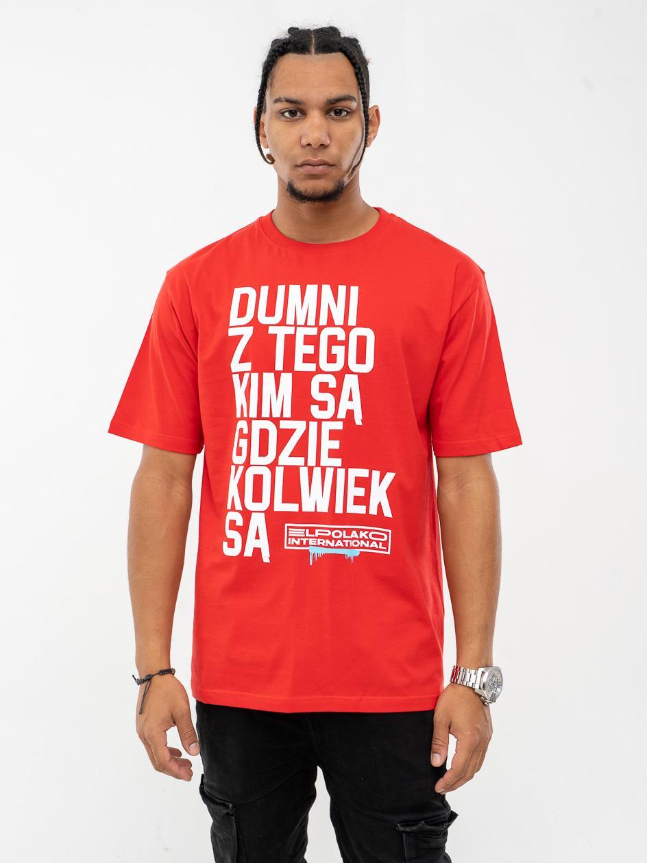 Koszulka Z Krótkim Rękawem El Polako Dumni International Czerwona