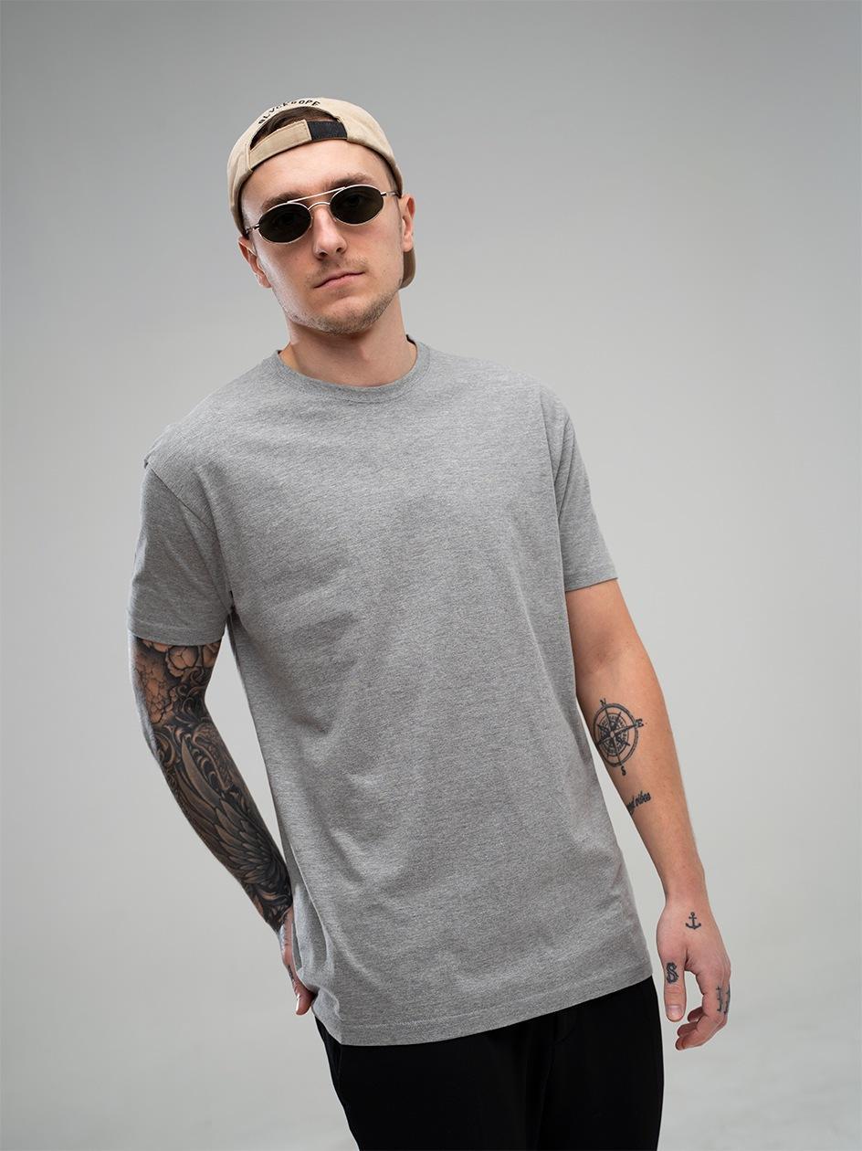 Koszulka Z Krótkim Rękawem Jigga Wear No Logo Jasna Szara