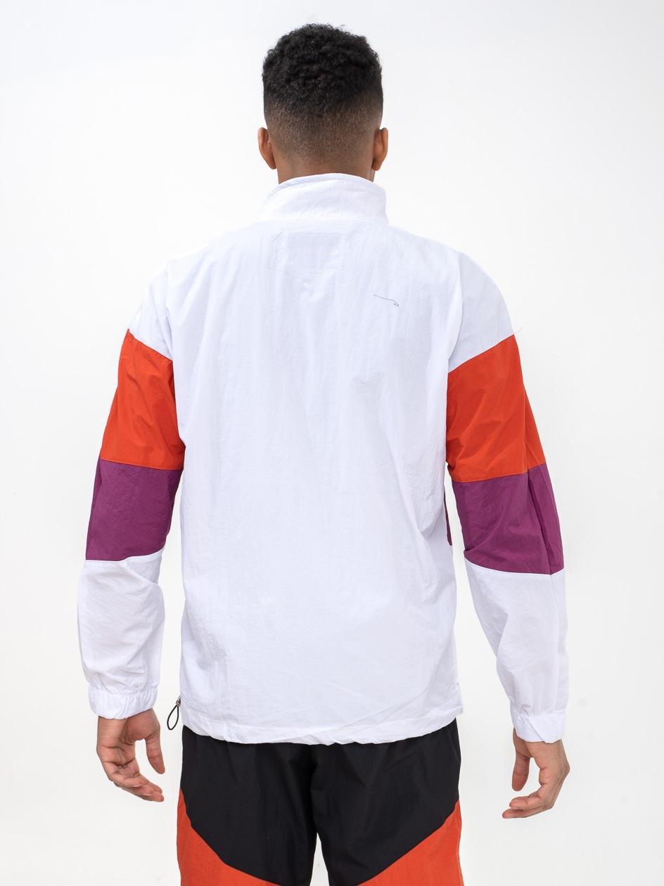 Bluza Rozpinana Do Połowy Z Ortalionu Plus Eighteen EGHTN Biała