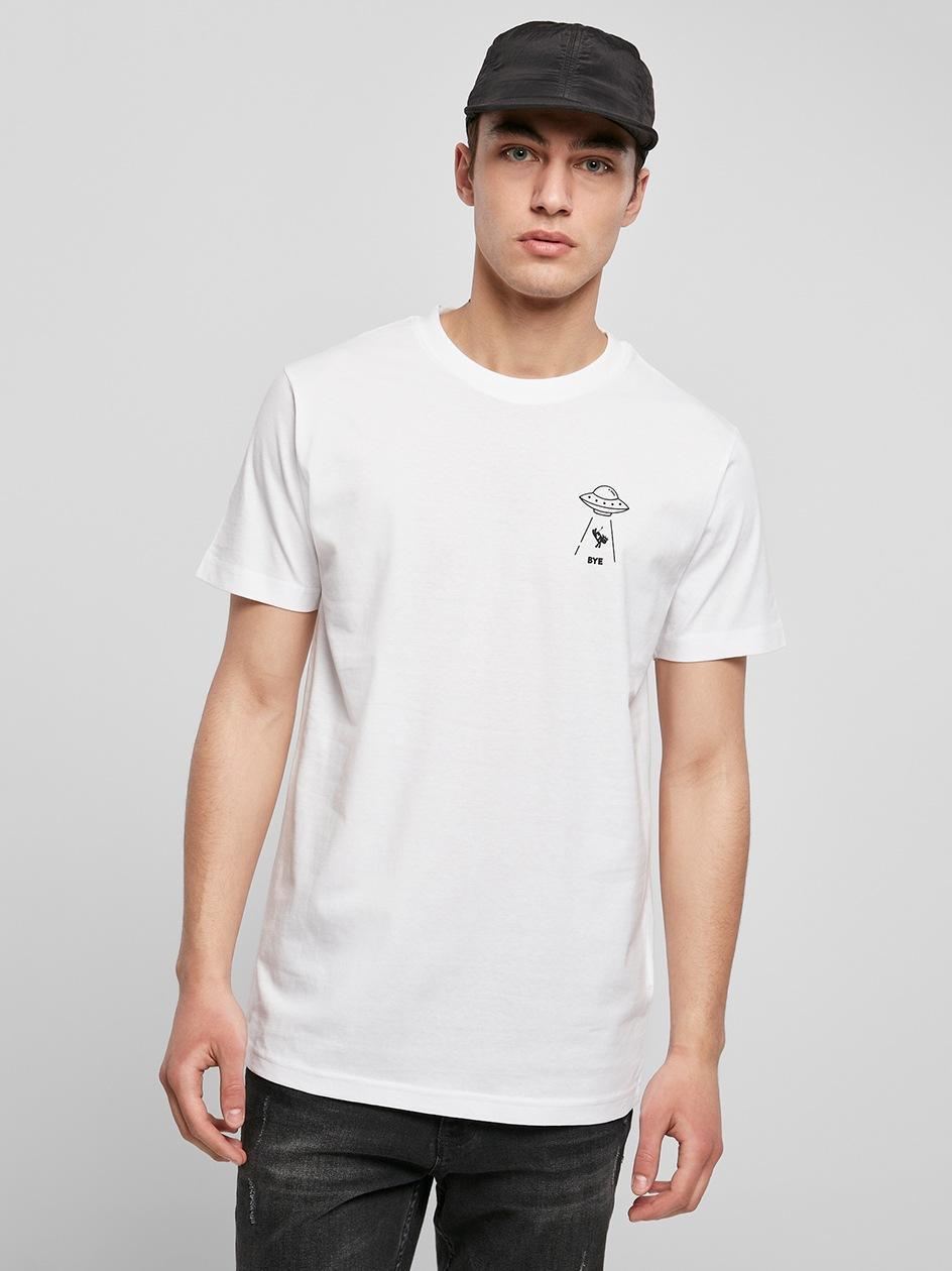 Koszulka Z Krótkim Rękawem Mister Tee Ufo Drop Biała