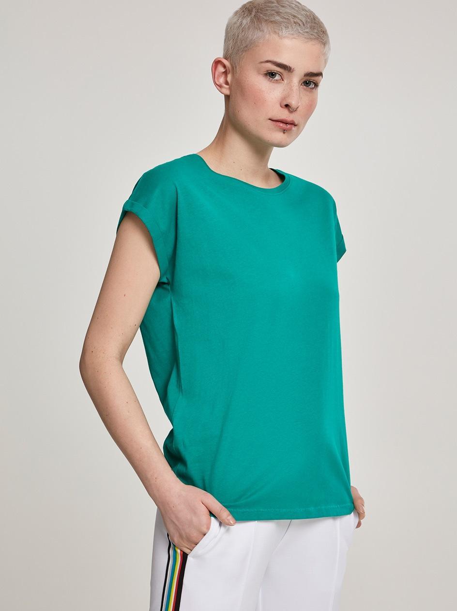 Damska Luźna Koszulka Z Krótkim Rękawem Urban Classics TB771 Zielona
