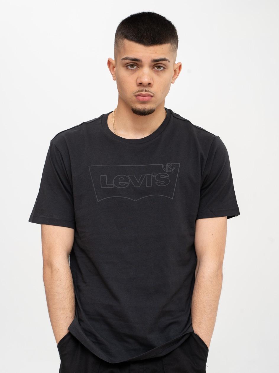 Koszulka Z Krótkim Rękawem Levis Housemark Czarna