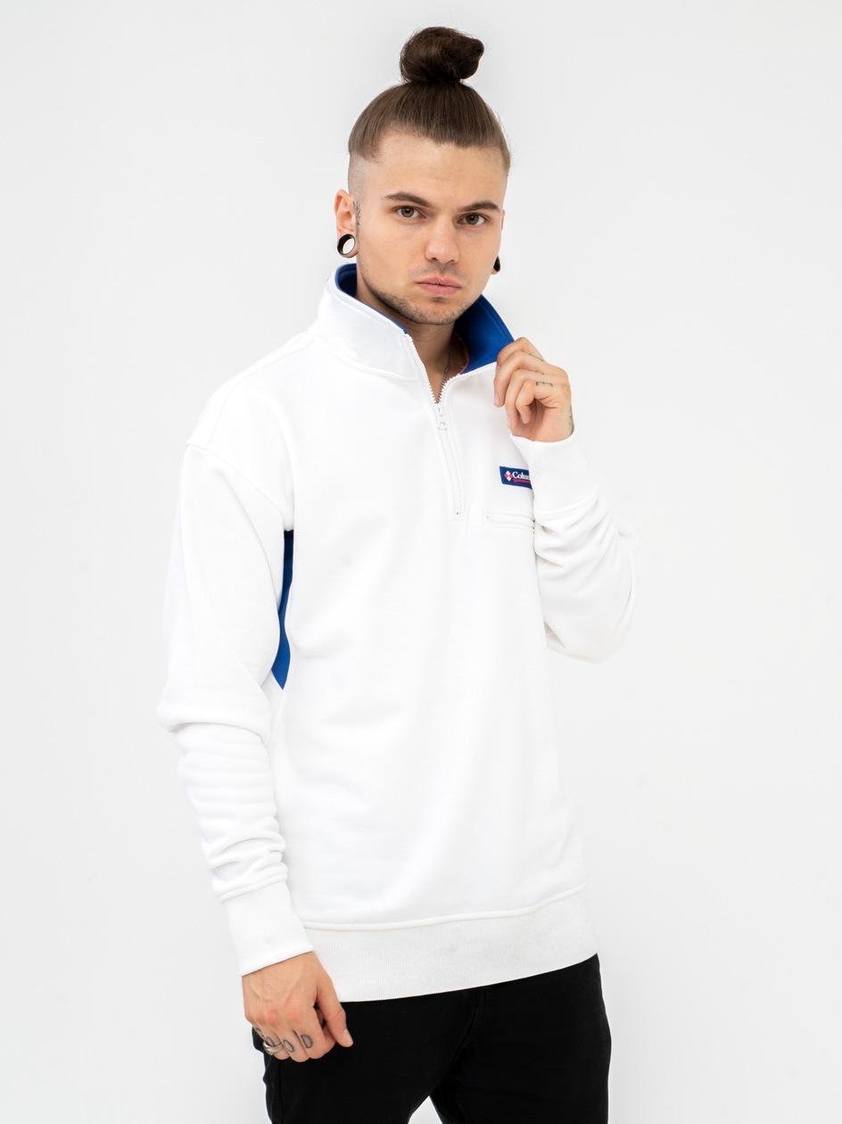 Bluza Bez Kaptura Rozpinana Do Połowy Columbia Bugasweat Biała