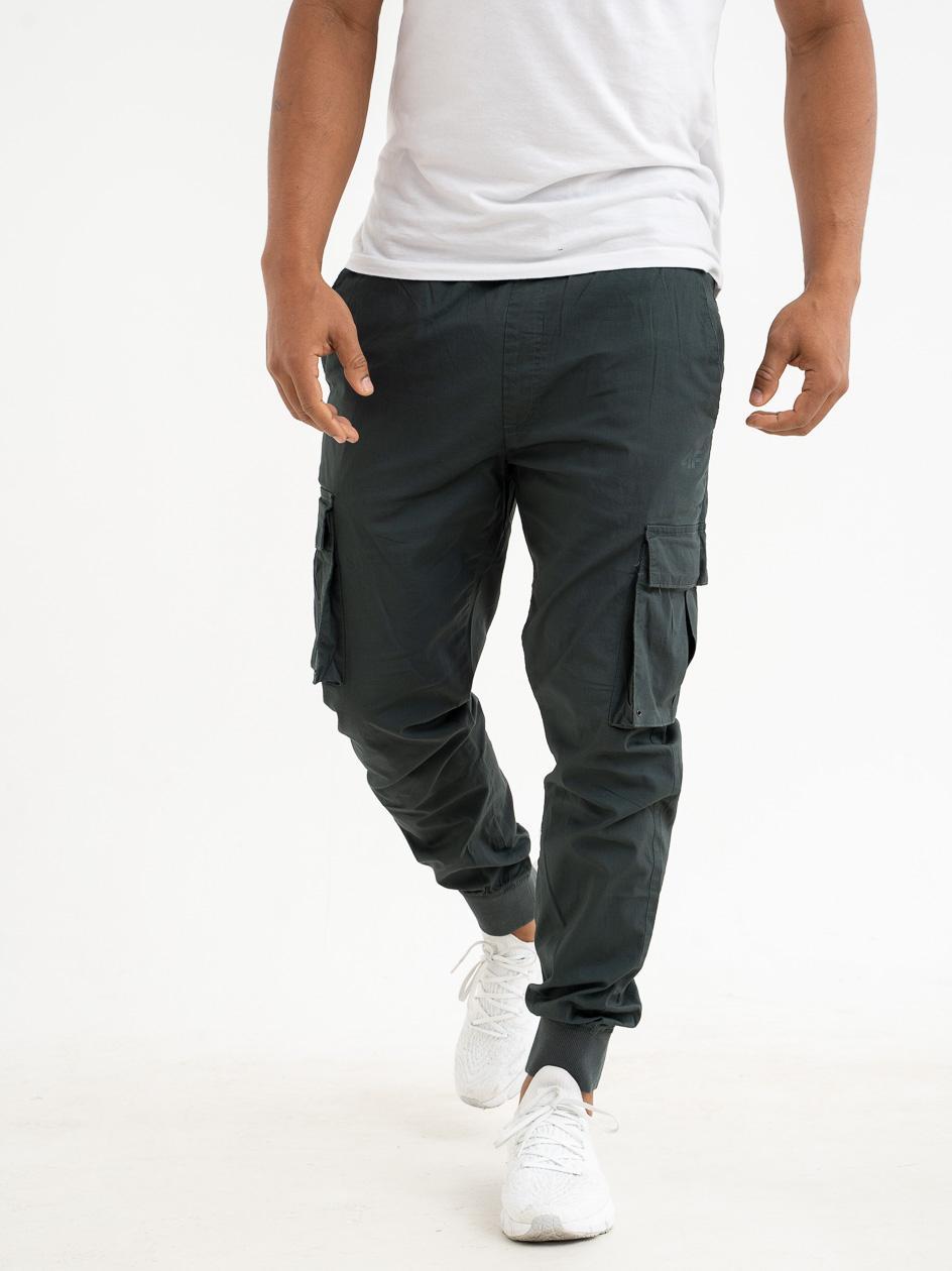 Spodnie Materiałowe Jogger Bojówki 4F Belt Khaki