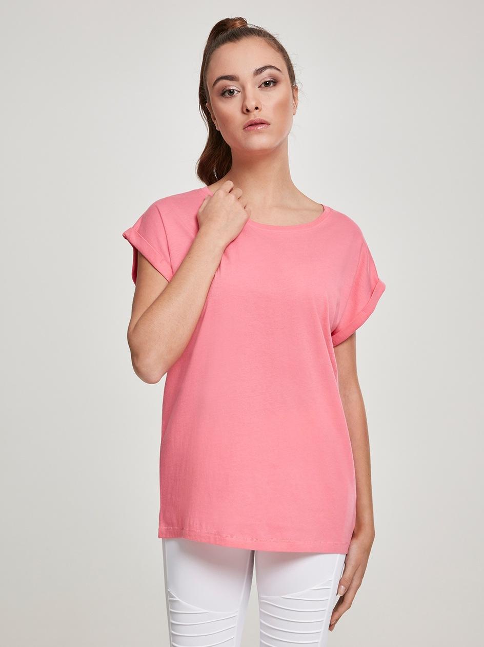 Damska Lużna Koszulka Z Krótkim Rękawem Urban Classics TB771 Różowa Grapefruit