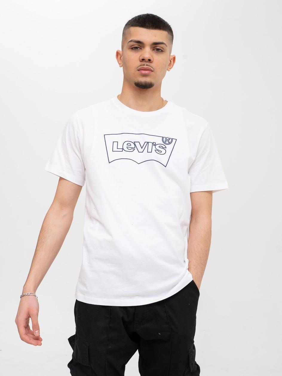 Koszulka Z Krótkim Rękawem Levis Housemark Biała