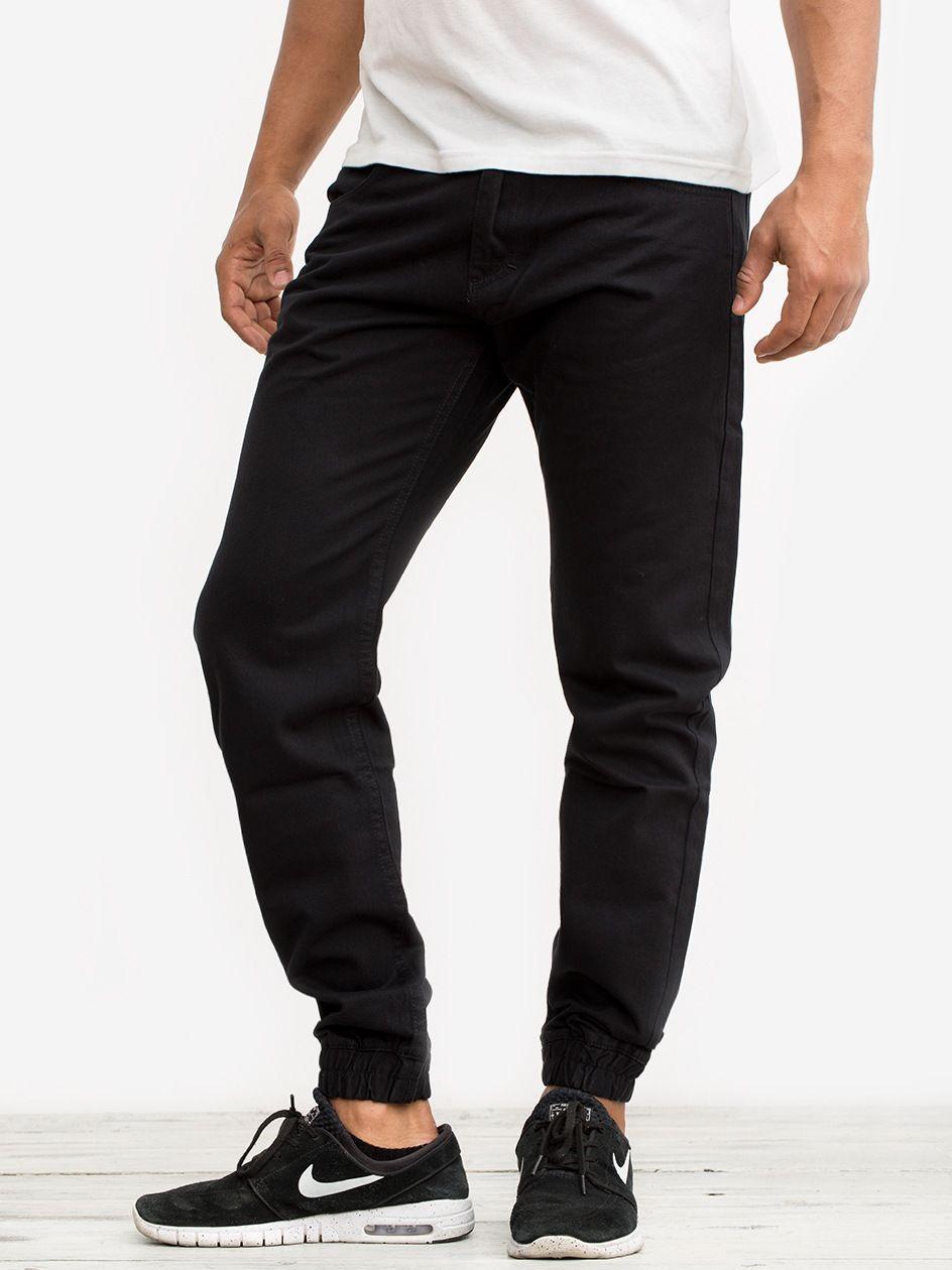 Spodnie Materiałowe Jogger Mass Base Czarne