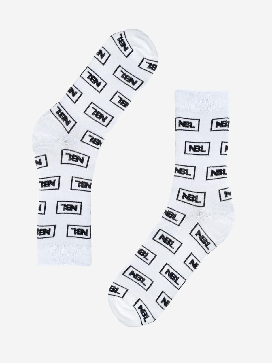 Długie Skarpety New Bad Line Icon Białe