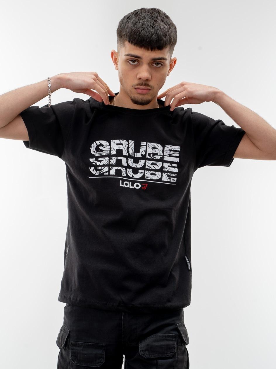 Koszulka Z Krótkim Rękawem Grube Lolo Wavy Triple G Czarna