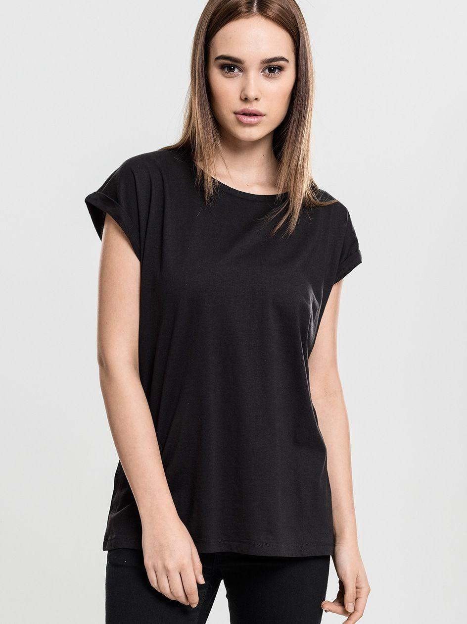Damska Lużna Koszulka Z Krótkim Rękawem Urban Classics TB771 Czarna