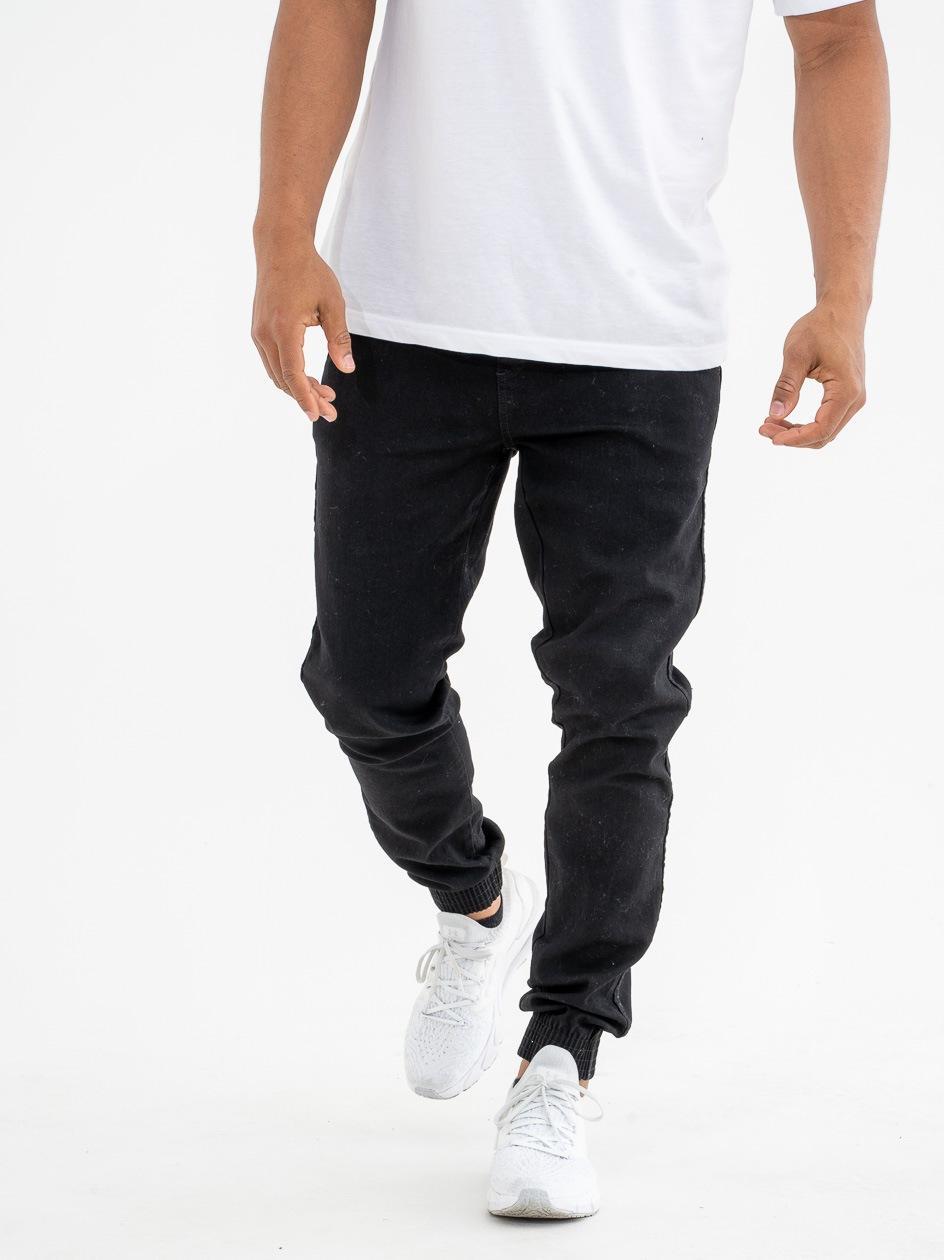 Spodnie Jeansowe Jogger BOR Skin Czarne