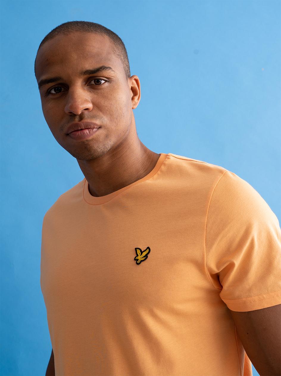 Koszulka Z Krótkim Rękawem Lyle & Scott Plain Pomarańczowa