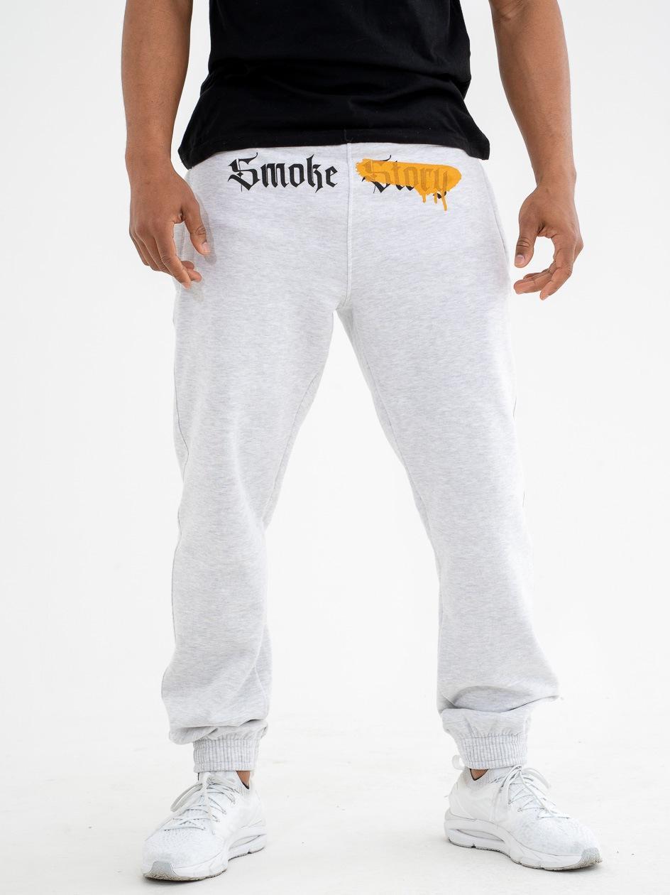 Spodnie Dresowe Regular SSG Smoke ##### Jasne Szare