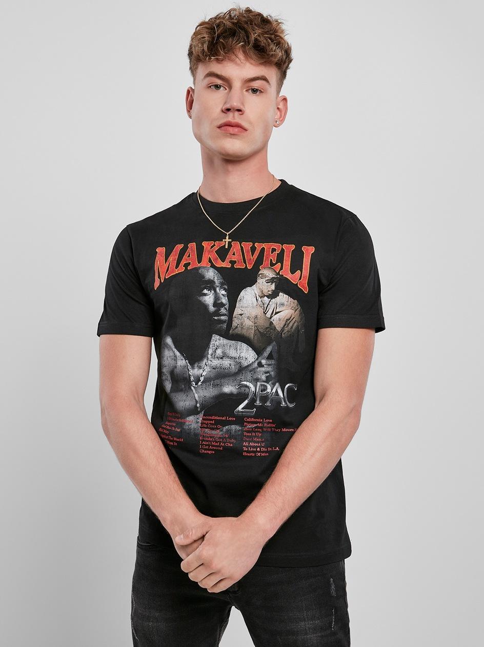 Koszulka Z Krótkim Rękawem Mister Tee Tupac Makaveli Czarna