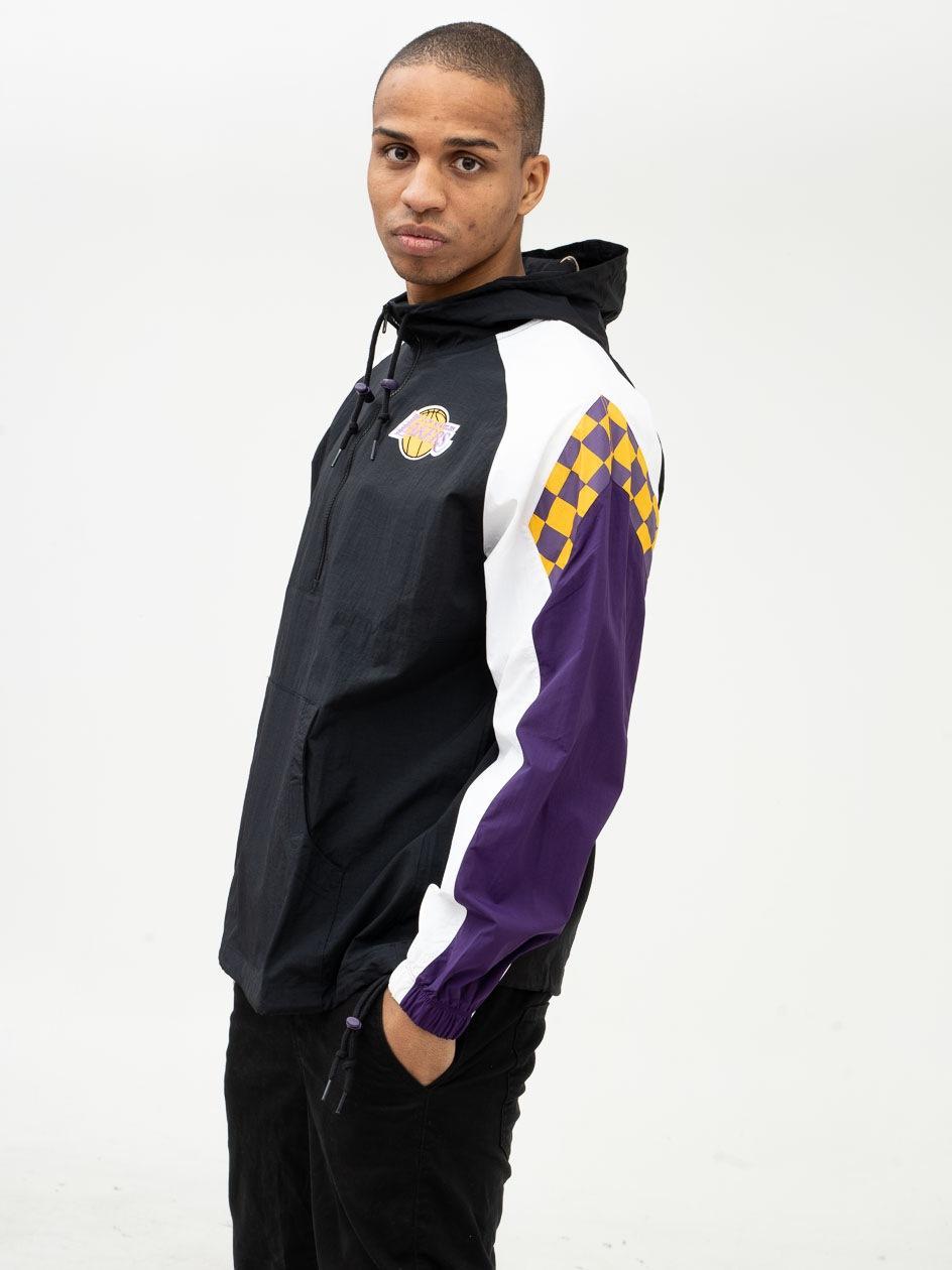 Kurtka Kangurka Mitchell & Ness Los Angeles Lakers NBA Half Zip Czarna
