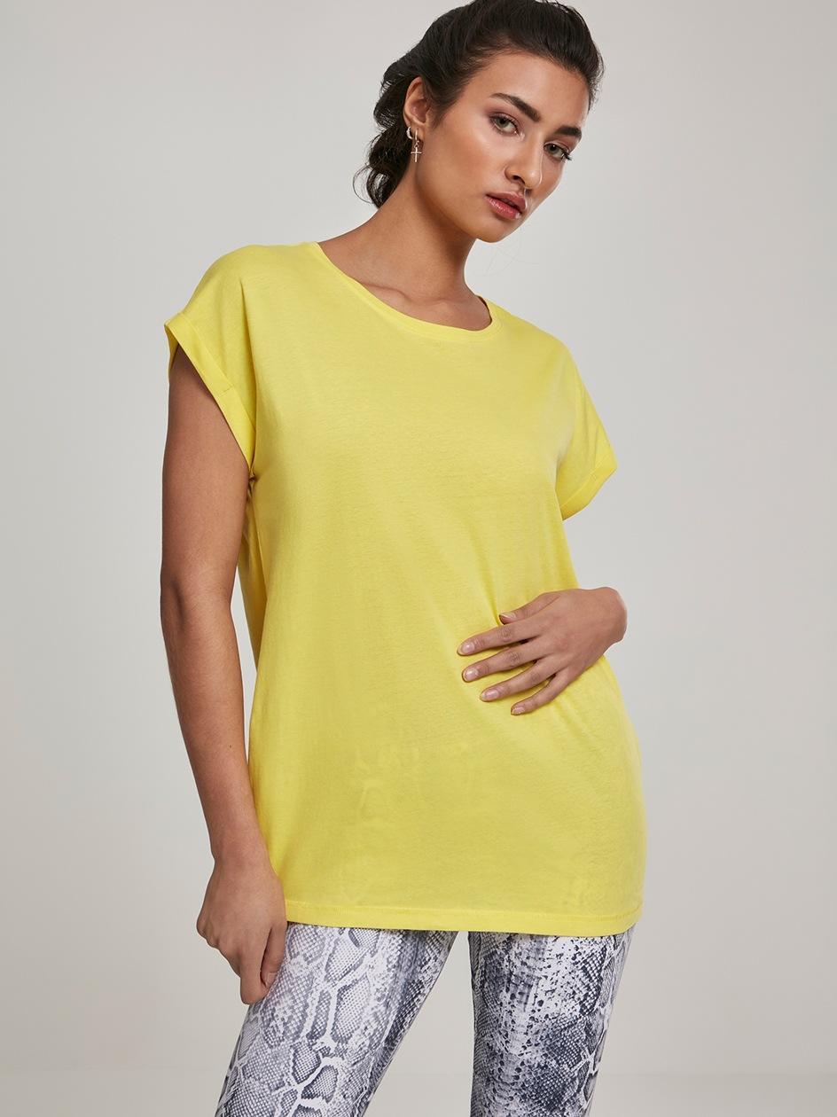 Damska Lużna Koszulka Z Krótkim Rękawem Urban Classics TB771 Żółta