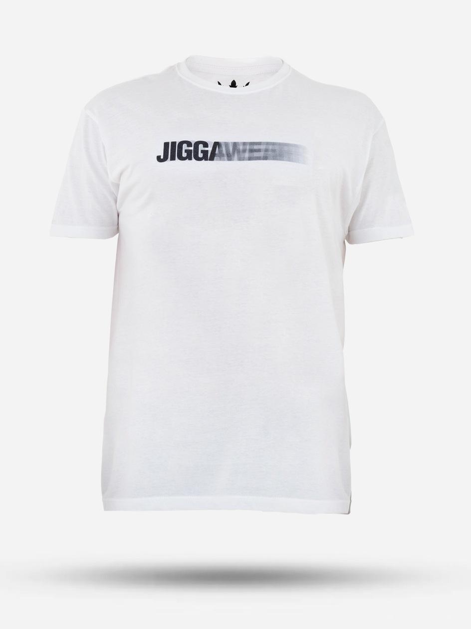 Koszulka Z Krótkim Rękawem Jigga Wear Decline Biała