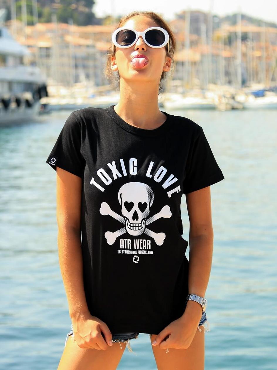 Damska Koszulka Z Krótkim Rękawem ATR Wear Toxic Czarna