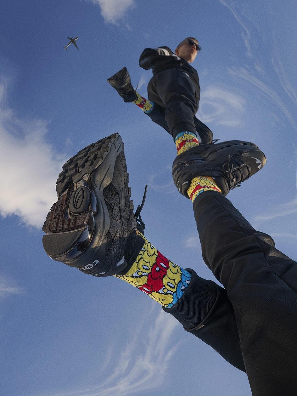 Długie Skarpety Prosto x Happy Socks Graph Color Wielokolorowe