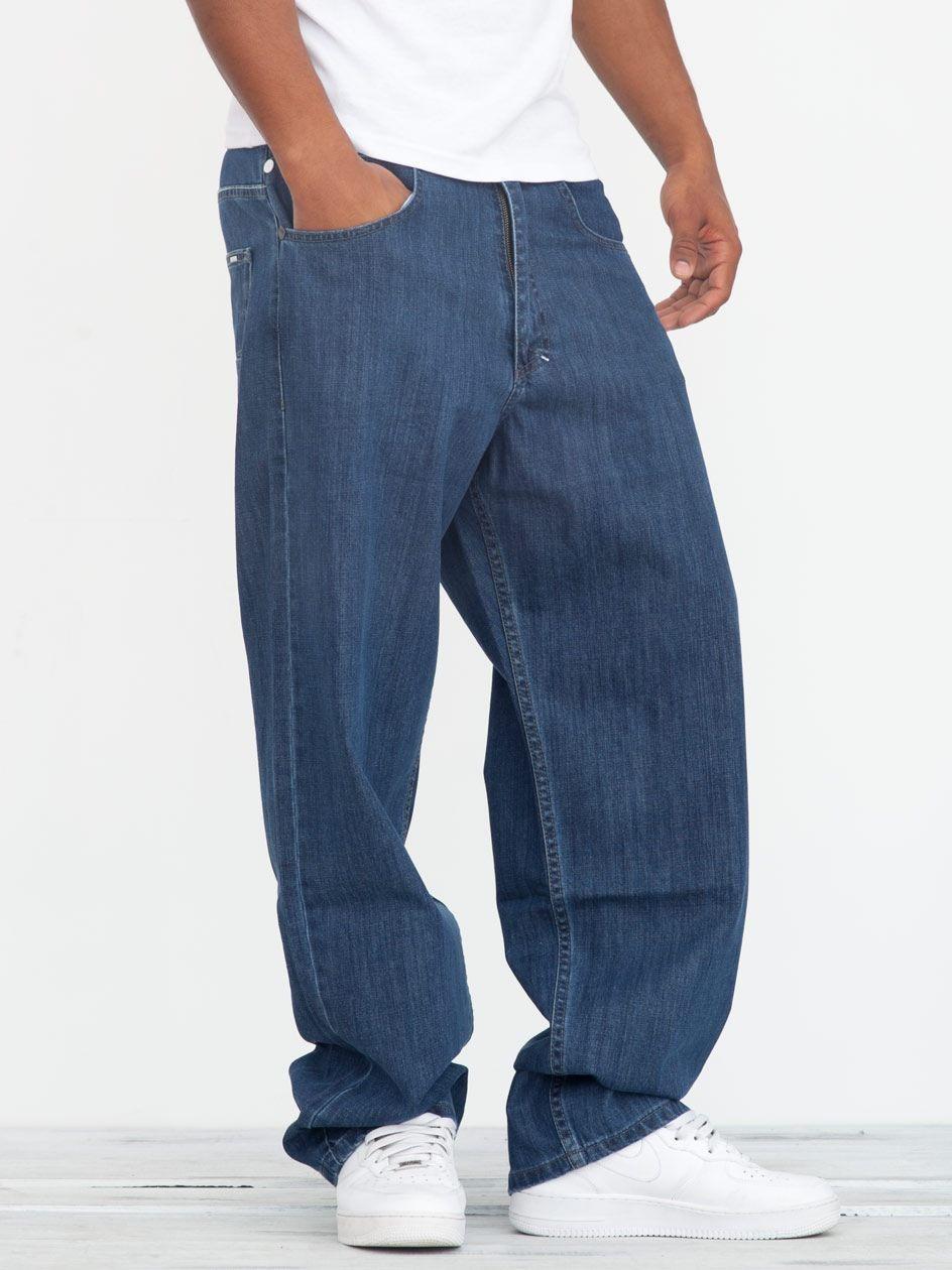 Spodnie Jeansowe Baggy Mass Slang Niebieskie