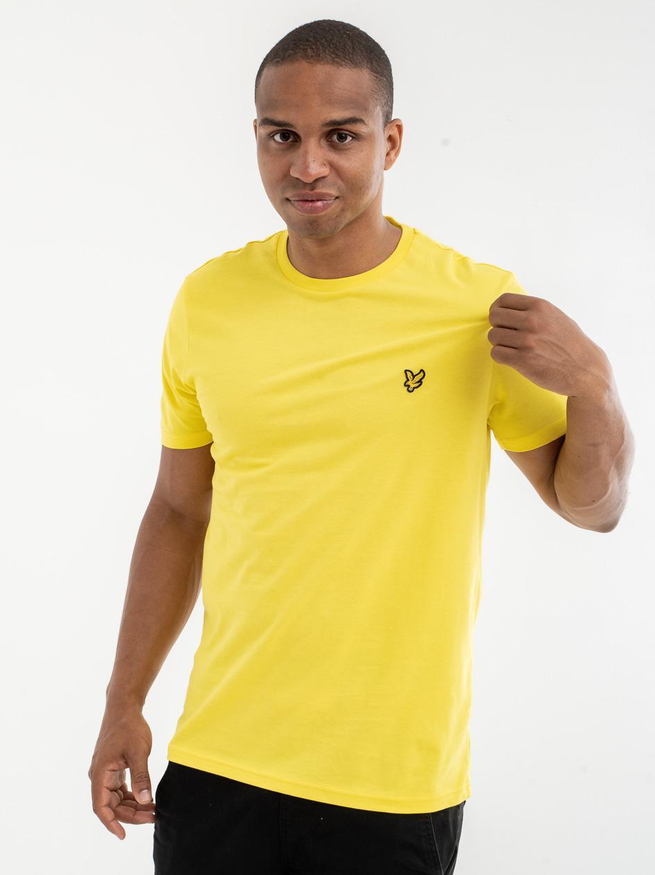 Koszulka Z Krótkim Rękawem Lyle & Scott Crew Neck Żółta