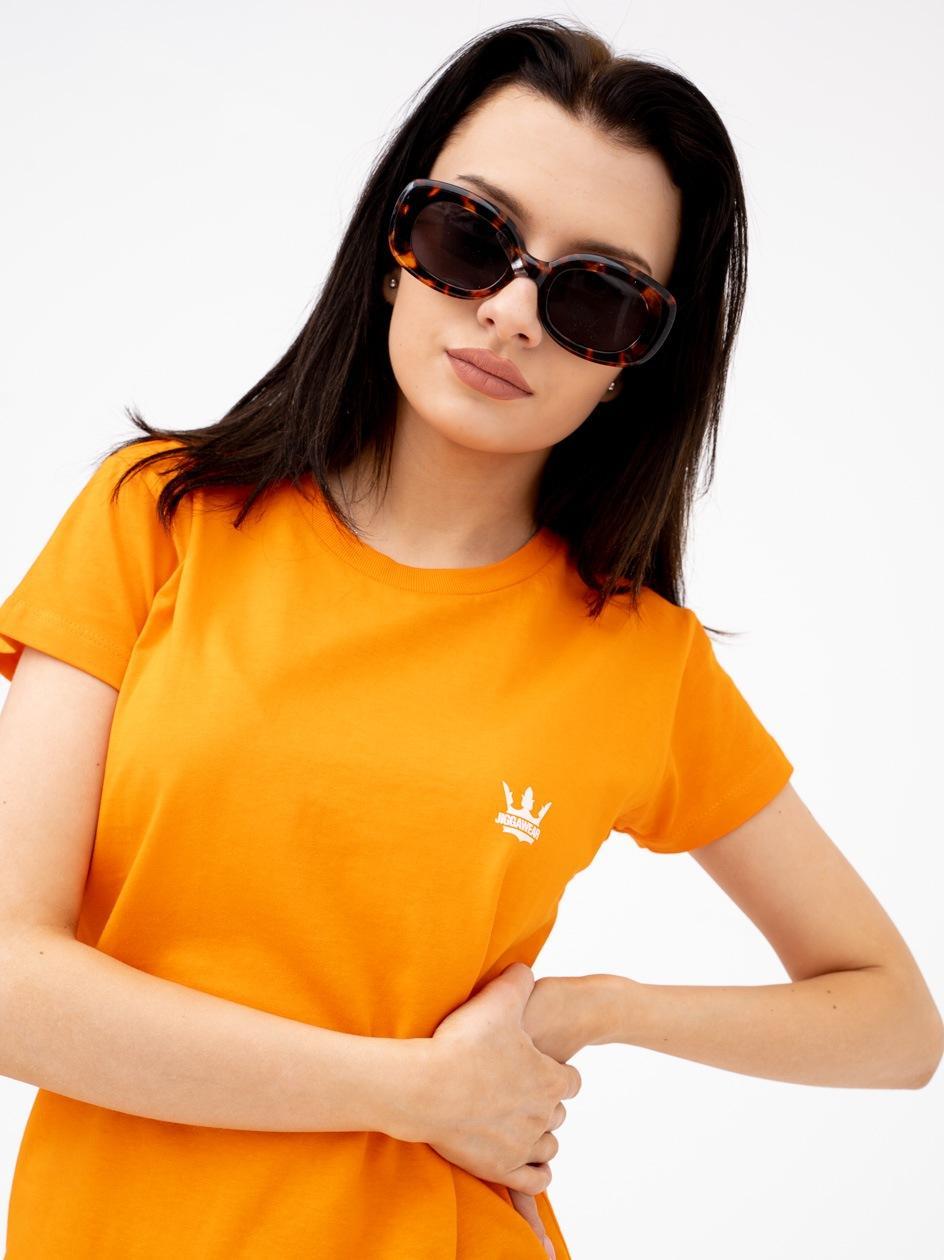 Damska Koszulka Z Krótkim Rękawem Jigga Mini Logo Pomarańczowa