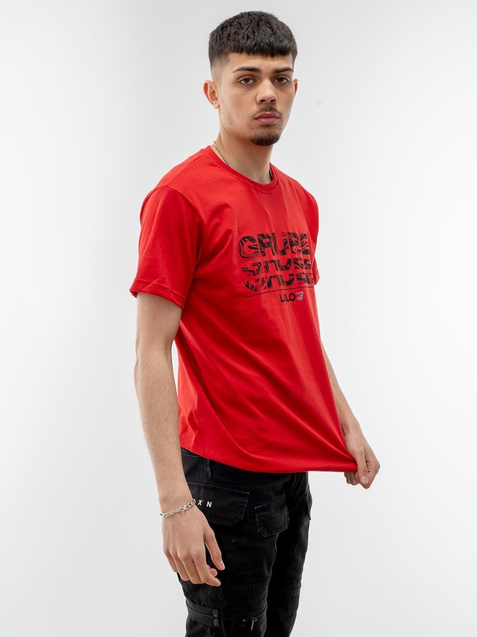 Koszulka Z Krótkim Rękawem Grube Lolo Wavy Triple G Czerwona