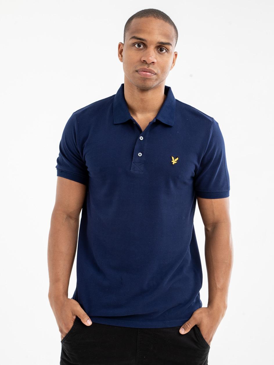 Koszulka Polo Z Krótkim Rękawem Lyle & Scott Polo Shirt Granatowa